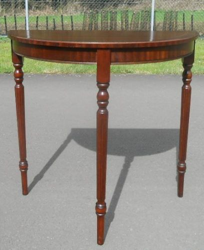 Small Mahogany Bowfront Console Table